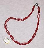 Бусы Коралл красный Трубочка жгут 53 см, фото 2