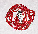 Бусы Коралл красный Трубочка жгут 53 см, фото 4