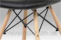 Стул Alex черная экокожа на деревянных ножках, скандинавский стиль, дизайн Charles Eames, фото 3