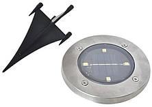 Солнечные уличные светильники Solar Disk Lights набор 4шт., фото 3
