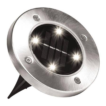 Солнечные уличные светильники Solar Disk Lights набор 4шт., фото 2