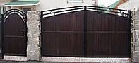 "Деревянные ворота для дома ""Модерн"" из термодерева"