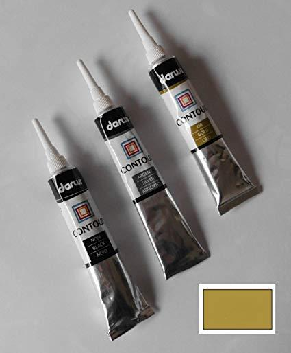 Контур по стеклу витражный Дарви Darwi Glass, Золото, 22мл