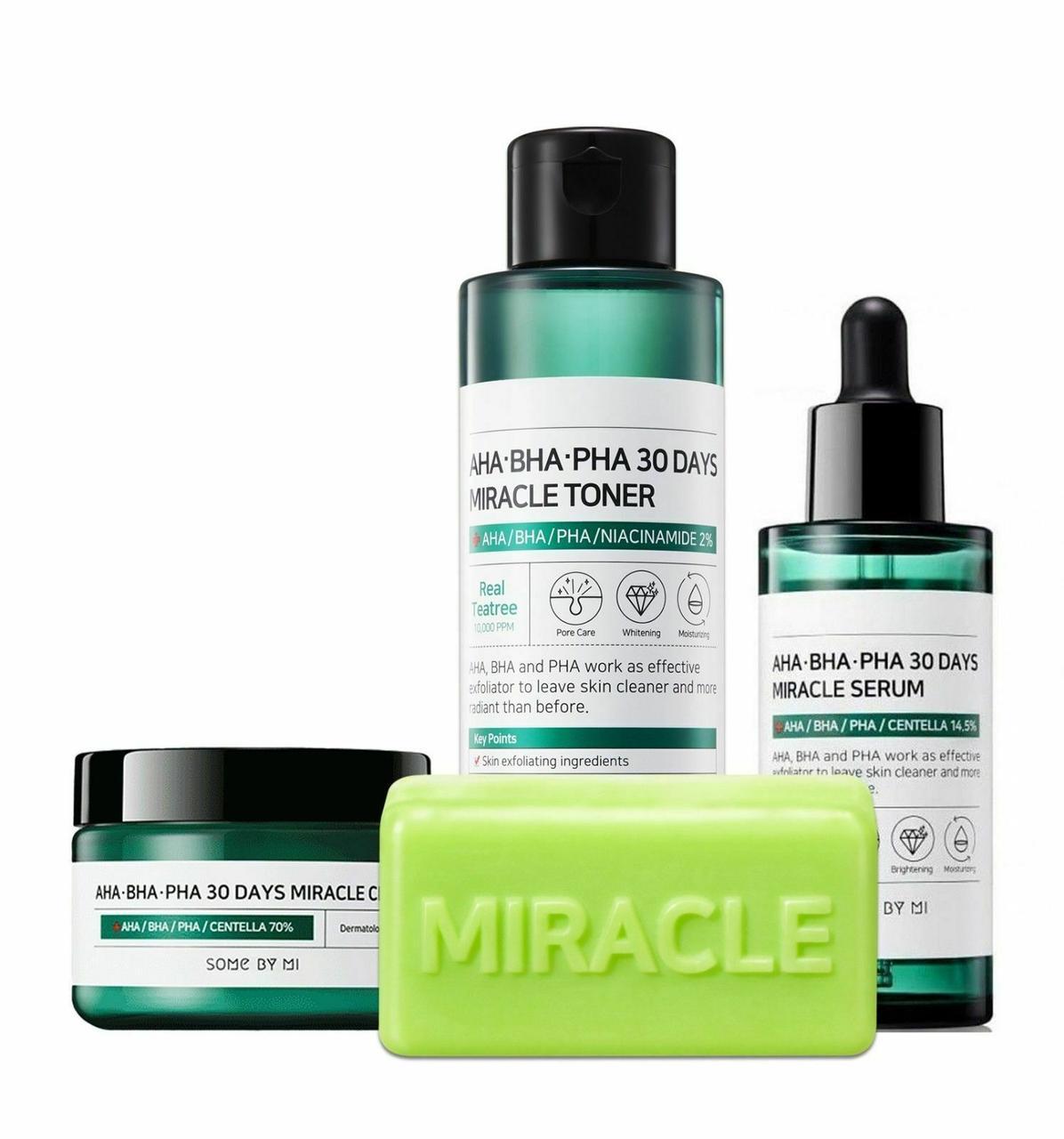 Набор для проблемной кожи с кислотами Some By Mi AHA/BHA/PHA 30Days Miracle Starer Kit Edition