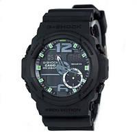 Наручные мужские часы Casio G-Shock GA-150 Black/Black-Green