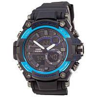 Наручные мужские часы Casio G-Shock GST-202 Black-Blue