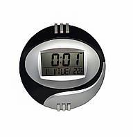 Настенные электронные часы Kadio DS-6870 Черно-серебристый