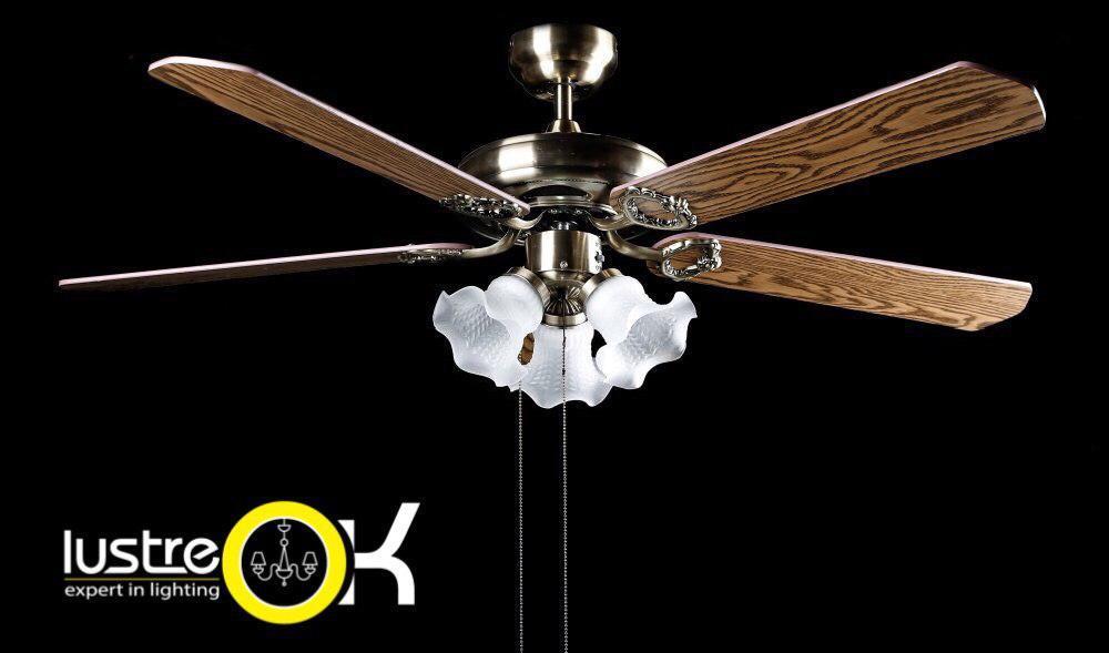 Люстра-вентилятор Потолочный вентилятор CF 948-4C/3L AB