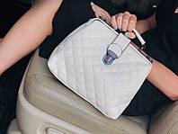 Женская кожаная белая сумка