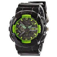 Наручные женские часы Casio Baby G GA-110 G Black-Green
