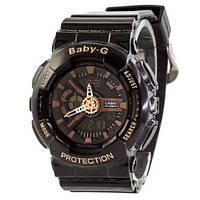 Наручные женские часы Casio Baby-G GA-110 Black-Cuprum