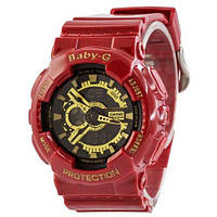 Наручные женские часы Casio Baby-G GA-110 Red-Gold