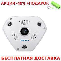 Панорамная потолочная беспроводная IP-камера T9 + powerbank