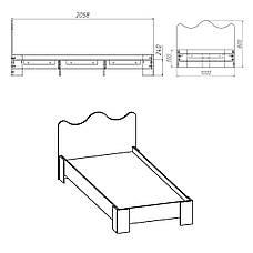 Кровать-100 МДФ, фото 2