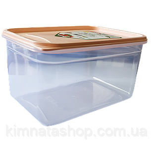 Контейнер Fresh Box прямокутний 1,3 л, прозора кришка помаранчева Irak Plastik
