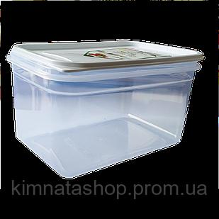 Контейнер Fresh Box прямокутний 1,3 л, прозора кришка біла Irak Plastik