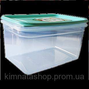 Контейнер Fresh Box прямокутний 1,3 л, прозора кришка бірюзова Irak Plastik