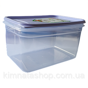 Контейнер Fresh Box прямокутний 1,3 л, прозора кришка бузкова Irak Plastik