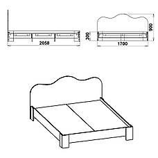 Кровать-170 МДФ, фото 3