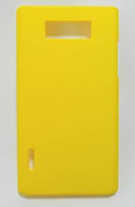 Чехол пластиковый матовый на LG Optimus L7 P700 P705, в ассортименте Желтый