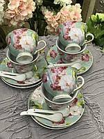 Сервиз чайный фарфоровый 6 персон Весна (18 предметов)