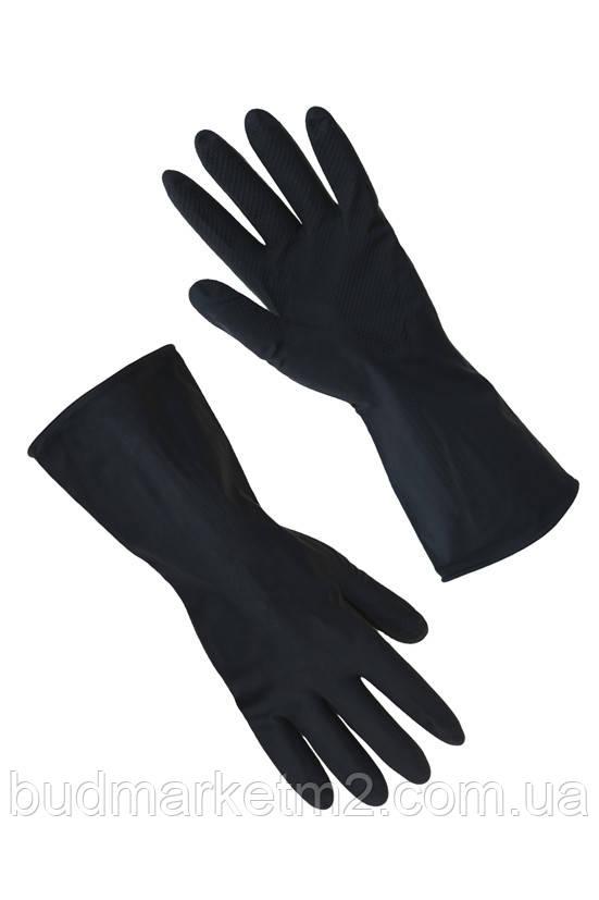 Перчатки резиновые КЩС черные