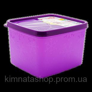 Бокс для морозильной камеры 1,2 л глубокий Alaska фиолетовый