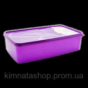 Бокс для морозильної камери 2,1 л прямокутний Alaska фіолетовий