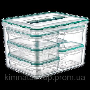 Набір контейнерів KOMBI SET з ручкою, загальний об'єм 16,8 л