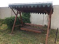 """Деревянная садовая качель """"Мадагаскар"""", фото 1"""