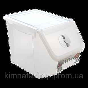 Контейнер 14 л, для зберігання харчових продуктів білий