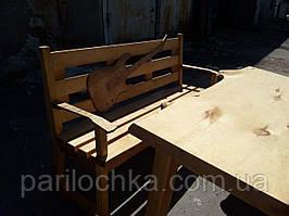 """Комплект """"Music"""" обеденный стол с лавочками."""