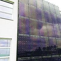 Солнечные станции на фасадах- отличная альтернатива размещению на каркасах.