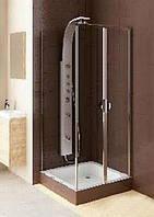 Душевые маятниковые двери Aquaform Glass 5 103-06355 со стенкой 103-06379
