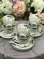 Сервиз чайный фарфоровый 6 персон Сакура (18 предметов)