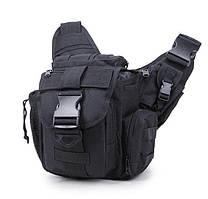 Городская тактическая штурмовая сумка Black