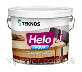 TEKNOS HELO AQUA 20 Полуматовый водоразбавляемый специальный лак Бесцветный 2,7 л