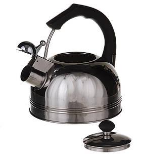 Чайник из нержавеющей стали А-Плюс 1324 со свистком 2.5 л (45152)