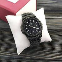 Наручные мужские часы Patek Philippe Nautilus All Black Skull