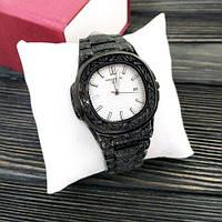 Наручные мужские часы Patek Philippe Nautilus Black-White Skull