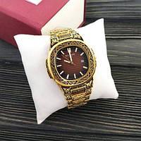 Наручные мужские часы Patek Philippe Nautilus Gold-Brown Skull