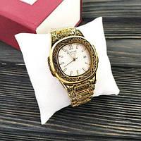 Наручные мужские часы Patek Philippe Nautilus Gold-White Skull