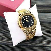 Наручные мужские часы Patek Philippe Nautilus Gold-Black Skull