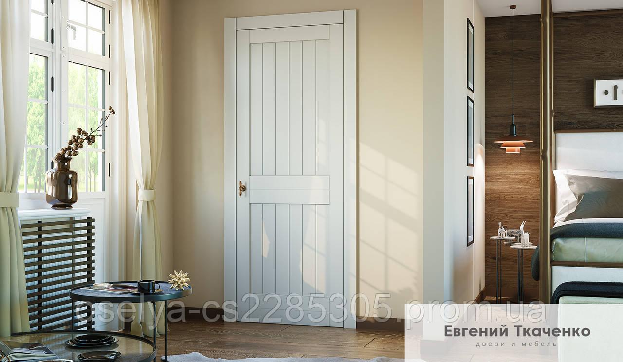 Дверь межкомнатная RODEO 01 дерево натуральное с наличником 900х2100х45 мм