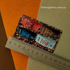 Рекламные магниты визитки. Размер 90х50 мм 3