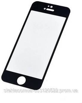 Защитное стекло 5D IPhone 5/ 5s / 5c / SE Black (Черная рамка)