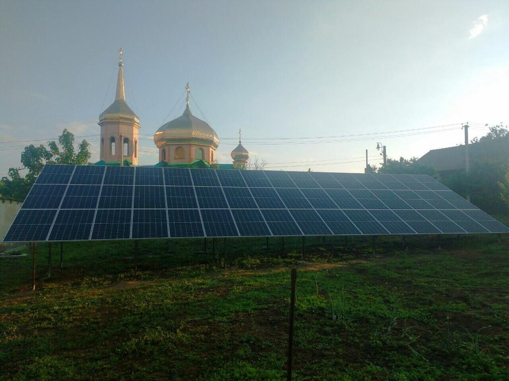 """Первомайское солнечная электростанция под """"зеленый"""" тариф мощностью 15 кВт Risen + Huawei Одесская область"""