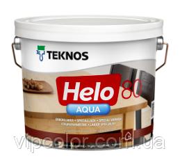 TEKNOS HELO AQUA 80 Глянцевый водоразбавляемый специальный лак Бесцветный 2,7л