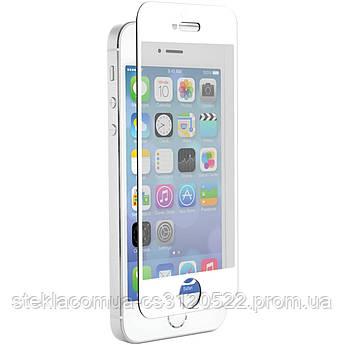 Защитное стекло 5D IPhone 5/ 5s / 5c / SE White (Белая рамка)