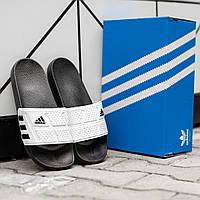 Мужские тапки Adidas Black &White